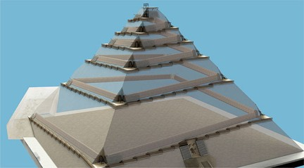 La construccion de las piramides de egipto for Interior piramide