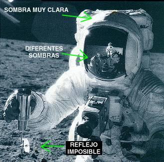 Sombras en el astronauta