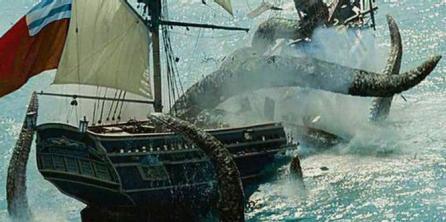 Kraken en Los Piratas del Caribe