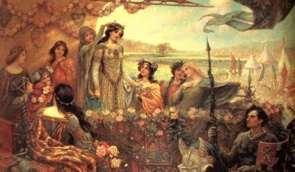 Lanzarote y Ginebra, pintura de Herbert James Draper