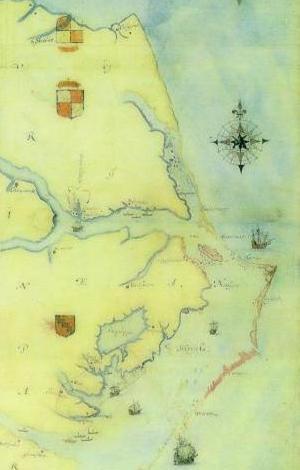 Mapa de la zona realizado por John White
