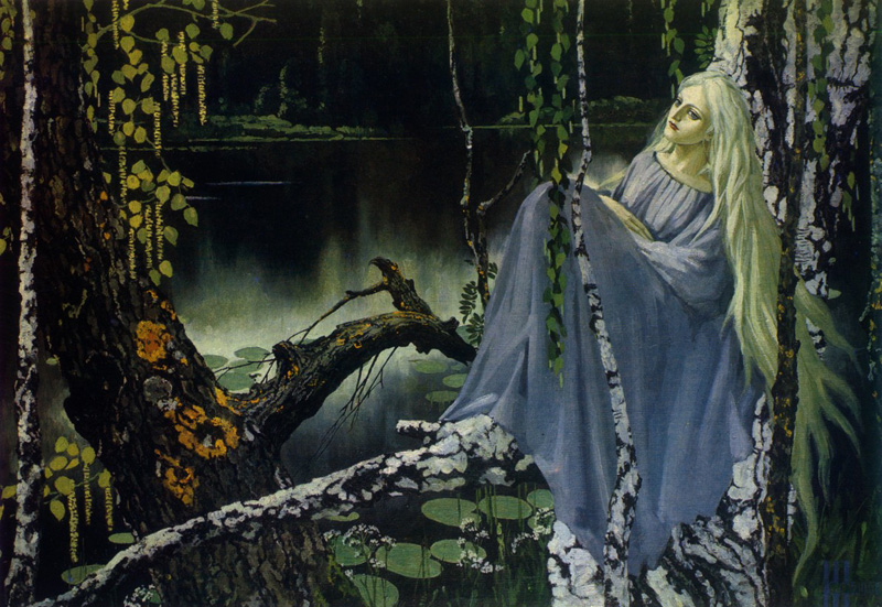 Rusalka, cuadro de Konstantin Vasiliev