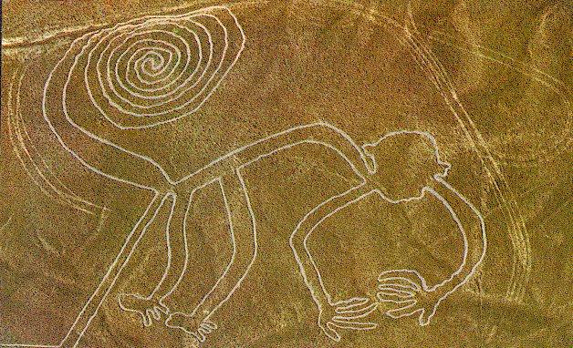 Misteriosas figuras en el valle de Nazca, Perú