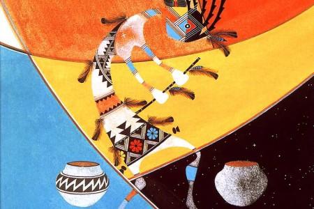 Kokopelli, dios de los indios americanos