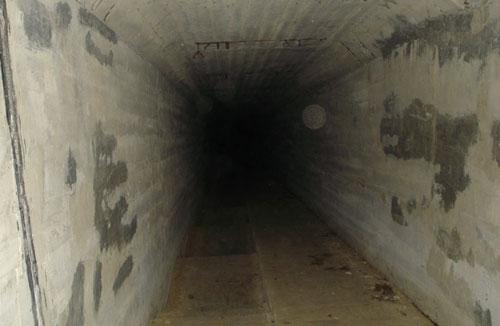 EL TUNEL CON VISIBLES ESFERAS EN LA FOTO
