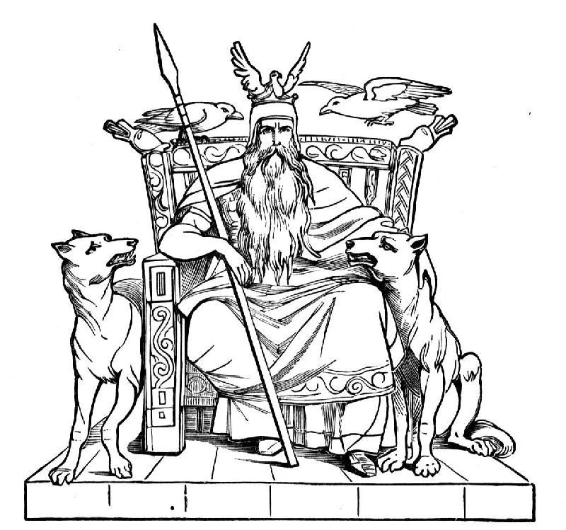 Odn el dios supremo de la mitologa nrdica
