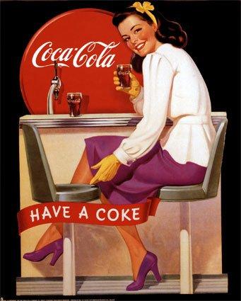 antiguo anuncio de Coca Cola
