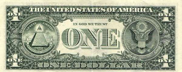 Anverso de 1 dolar