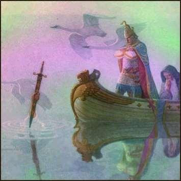 La dama en el lago y la espada Excalibur