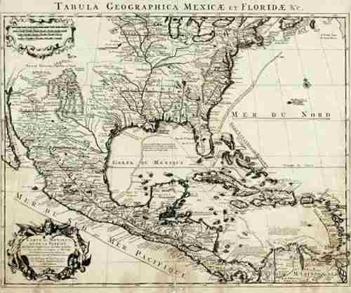 Mapa francés de Norteamérica