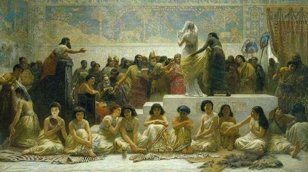 Mercado humano en Babilonia