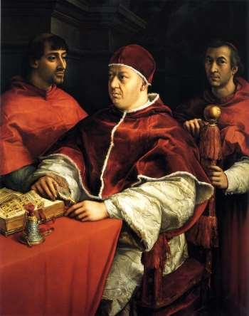 Papa Leon X por Rafael
