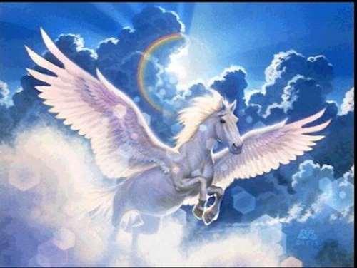 Pegaso el caballo alado de la mitologia griega