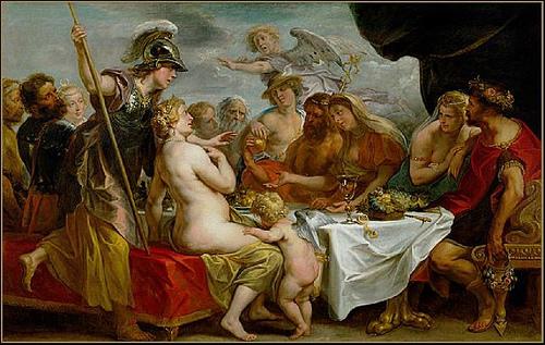 Juegos de seducción: Tetis y Peleo
