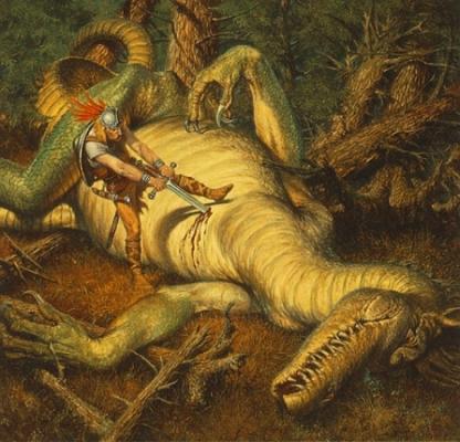 Beowulf y el Grendel