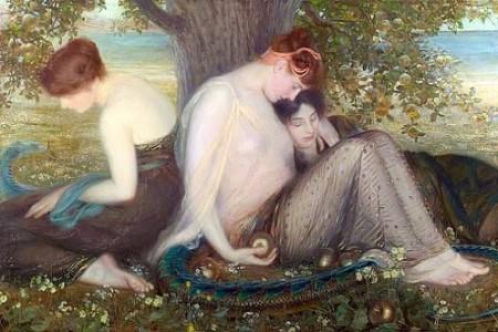 Las Hespérides y las manzanas de su jardín