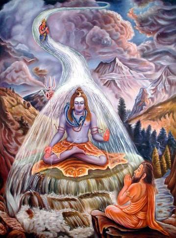 La diosa Ganga, el Ganges en la mitología