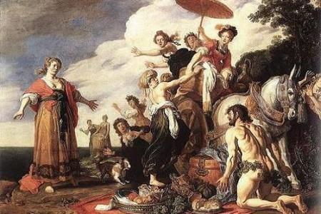 Ulises en las isla de los feacios