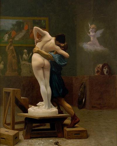 Pigmalion y la estatua