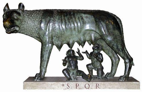 Romulo, Remo y la loba