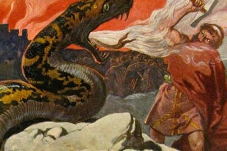 El mito de Jörmundagander y Thor